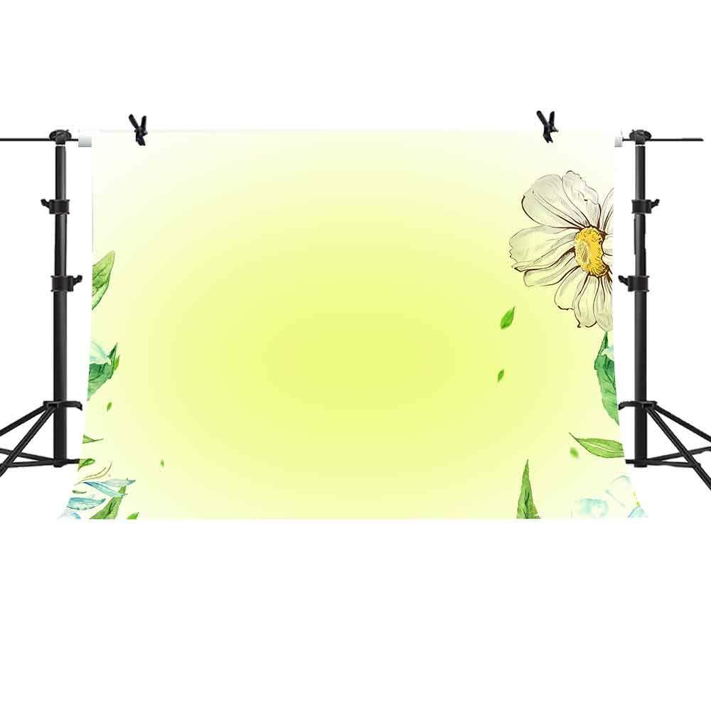 MEMETY 10X7フィート 油絵スタイル 花の背景 YouTube写真スタジオ小道具 背景幕 BMM016   B07G7RJY77
