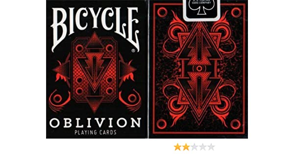 by Collectable Playing Cards Bicycle Oblivion Deck Red BRAND NEW CARDS