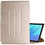 For Huawei MediaPad M5 10 (10.8 inch) Silk Texture Horizontal Flip PU Leather Case with Holder