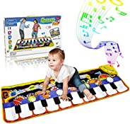 RenFox Kids Musical Mats, Music Piano Keyboard Dance Floor Mat Carpet Animal Blanket Touch Playmat Early Educa