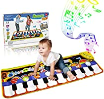RenFox Kids Musical Mats, Music Piano Keyboard Dance Floor Mat Carpet Animal Blanket Touch Playmat Early Education Toys...