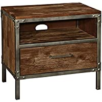 Coaster 203802 Home Furnishings Night Stand, Weathered Acacia