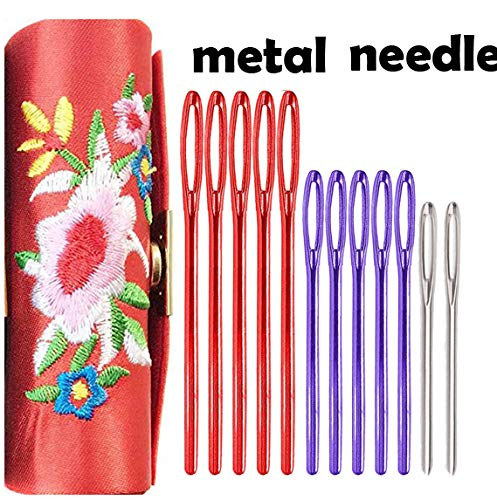 - Metal Large-Eye Blunt Needles Darning Tapestry Needles Embroidery Needles Knitting Needles Sewing Needles+ ❤️Embroidery Needle Holder❤️
