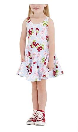 81d587551 Amazon.com  Biscotti Girls Blue Sleeveless Cherry Dress  Clothing