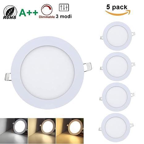 18 W – Lámpara LED empotrable Panel Lámpara de techo Transformador Ultraslim Foco Redondo