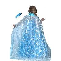 Lilly y la abeja Novedades Princesa de hielo congelado Brillante capa de copo de nieve con la banda Let It Go