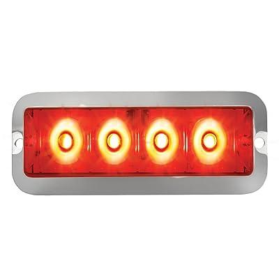 Grand General 76532 Red Medium Rectangular 4 LED Strobe Light with Red Lens: Automotive