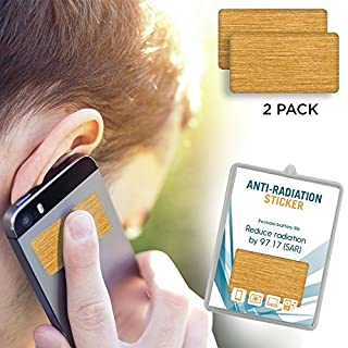 2 Pack - Anti EMF Radiation Protection Shield Stickers for Cell Phone, Laptops, Mobile Devices - Eliminates Radiative Wave and Prolongs Lifespan of Cellphone Battery