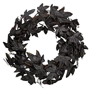 Fantastic Craft Maple Leaf Wreath, 20-Inch, Black 2