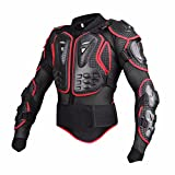 Black/Red Professional Motorcycle Racing Motocross Full Body Armor - XXXL