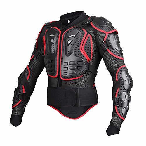 Black/Red Professional Motorcycle Racing Motocross Full Body Armor - XXXL by Single Mom