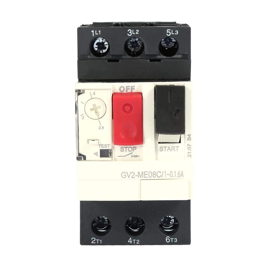GV2-ME01C//ME02C//ME03C//ME04C//ME05C//ME06C//ME07C//ME08C//ME10C//ME14C//ME16C//ME20C//ME21C//ME22C//ME32C Disjoncteur de protection moteur Disjoncteur moteur Noir GV2-ME06C 1~0.1.6A