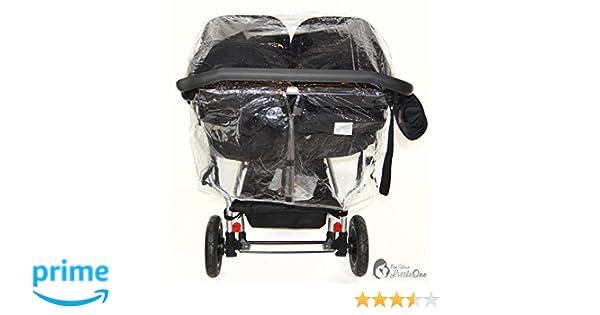 Protector de lluvia Compatible con Mountain Buggy Duet - Carrito doble (213): Amazon.es: Bebé