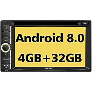 Sale PUMPKIN Android 8.0 Car Stereo Double Din DVD CD Player with GPS WiFi 4GB RAM Support Fastboot Backup Camera Android Auto 128GB USB SD AUX 6.2 inch Touchscreen
