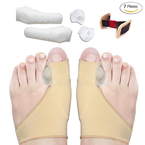 Bunion Corrector and Bunion Relief Sleeves Kit - Bunion Pads Food Pain Care - Gel Toe Separators Spacers Straighteners Splint Relieve Hallux Valgus,Tailors Bunion,Big Toe Joint,Hammer Toe by Jonhen