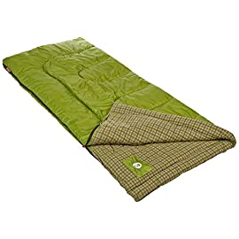 Coleman Green Valley Cool Weather Adult Sleeping Bag 9 For temperatures 30⁰ F to 50⁰ F Fits most heights up to 5 ft. 11 in.; Dimensions: 33 x 75 in Fiberlock Construction prevents insulation from shifting, extending life of your sleeping bag