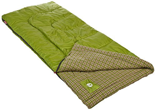 Coleman Green Valley 30 Degree Sleeping Bag 1 For temperatures 30⁰ F to 50⁰ F Fits most heights up to 5 ft. 11 in.; Dimensions: 33 x 75 in Fiberlock Construction prevents insulation from shifting, extending life of your sleeping bag