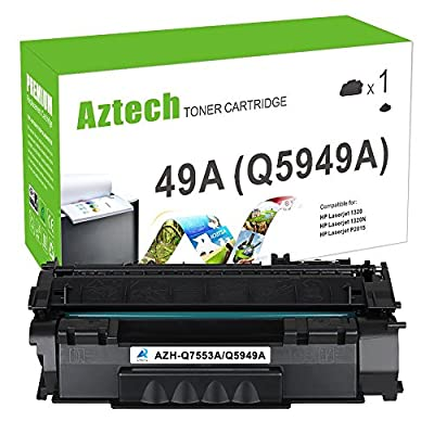 Aztech Compatible Q5949A 49A Q7553A 53A Toner Cartridge For LaserJet P2015 P2015d P2015dn Printer Toner 1 Pack