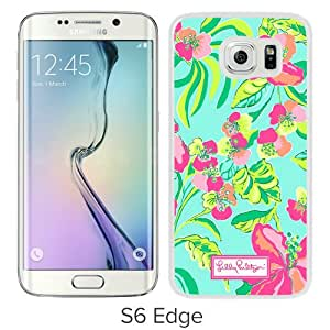 Unique Samsung Galaxy S6 Edge Skin Case ,Fashionable And Durable Designed Phone Case With Lilly Pulitzer 18 White Samsung Galaxy S6 Edge Screen Cover Case