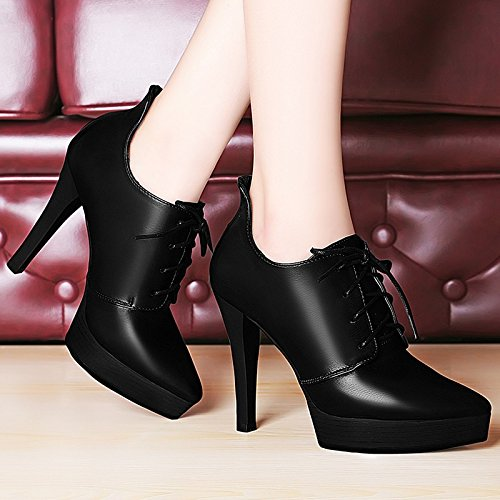 Occupation Waterproof Seasons High Platform Spring High Shoes Shoes Shoes Singles Women Work Jqdyl Wedding heels Heels Black Women'S n0vZPxYx