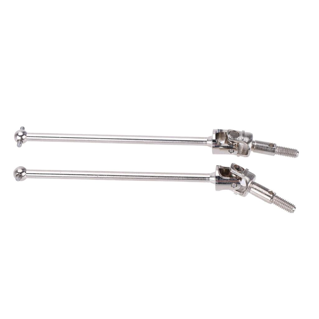 Fenteer 2PCS 108015 Steel Drive Shafts Joint for 1//10 HSP 94108 Off-Road Truck Silver