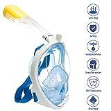 Full Face Snorkel Mask ,HiOrange 180°Sea View Free Breathing Snorkeling Mask with Detachable GoPro Mount, Anti-Fog,Anti-Leak Snorkeling