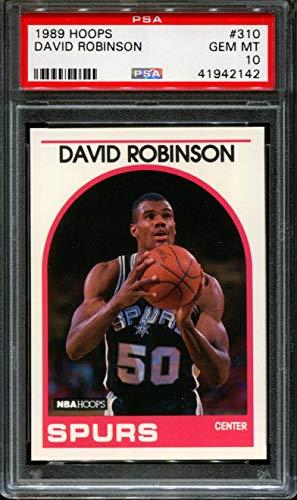- 1989 HOOPS #310 DAVID ROBINSON RC HOF PSA 10 K2345480-109