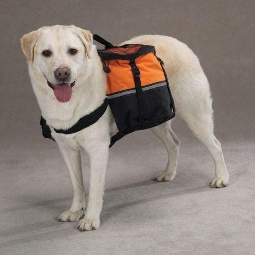 DOG BACKPACK Working or Service Dogs Day Tripper Orange Back Pack Closeout