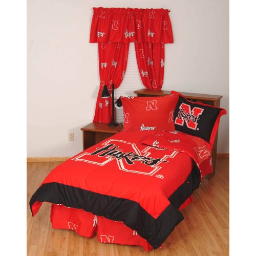 College Covers Nebraska Cornhuskers Bed in a Bag with Team Colored Sheets, Queen