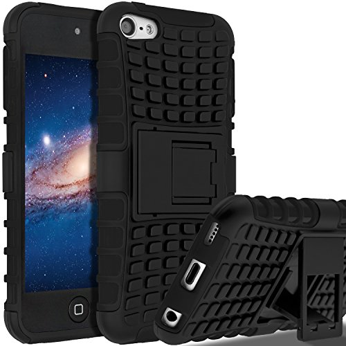 iPod Touch 5th Generation Case,iPod Touch 6 Case, SLMY(TM) Heavy Duty Dual Layer Shockproof Resistance Hybrid Rugged Cover Case with Built-in Kickstand for Apple iPod Touch 5 6th Generation (5th Generation Ipod Accessories)