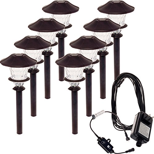 Paradise 8 Pack Aluminum LED Low Voltage Path Light Kit (Oiled Bronze)
