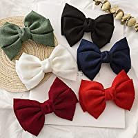 Hair Bow Clips, French Hair Bows Barrette Hair Accessories for Women Girl and Ladies (6pcs)