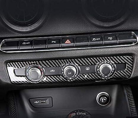 Hdcf Abs Kohlefaser Stil Klimaanlage Knopf Abdeckplatte Dekorrahmen Für Für A3 8 V 2014 18 Auto