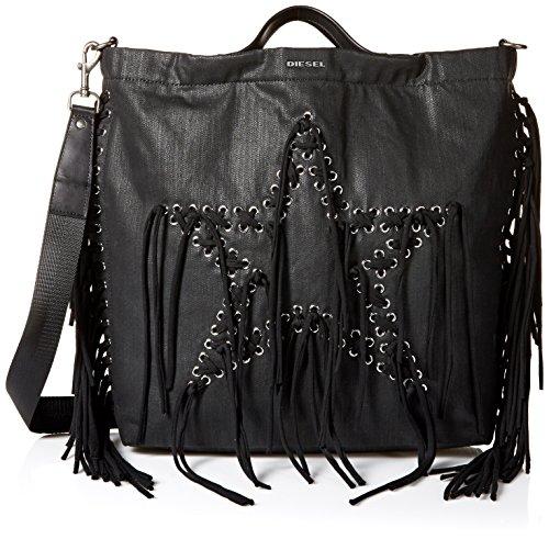 Diesel Men's Supersstar Tote Bag, black denim