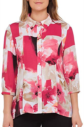 Floral Swing Blouse with 3/4 Sleeves PaintedFlr 12 ()