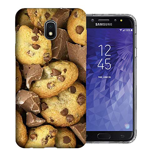 MUNDAZE for Samsung Galaxy J3 J337 2018 Achieve/Express Prime 3/ Amp Prime 3 UV Printed Design Case - Chocolate Chip Cookies Design Phone Cover