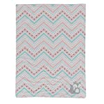 Lambs-Ivy-Little-Spirit-CoralWhiteBlue-Chevron-Fox-Luxury-Baby-Blanket