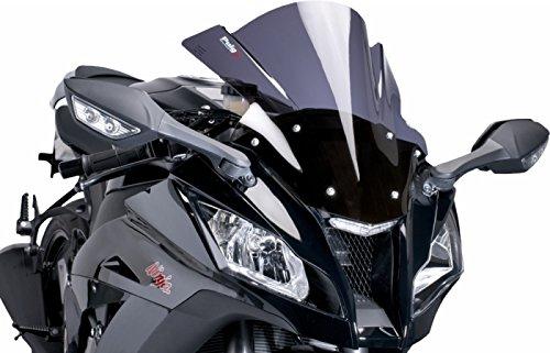 Puig Race Windscreen Dark Smoke for Kawasaki ZX6R ZX6RR 03-04