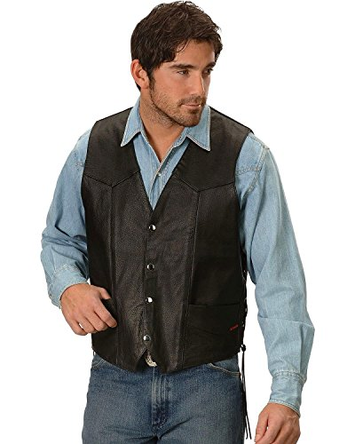 Interstate Leather Men's Basic Vest with Side Lace