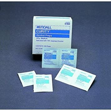 Kendall Curity Alcohol Prep Pads -Sterile - One Box of 200 #5150/5750