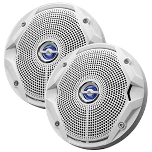 BULK JBL MS-6520 MS6520 6-1/2'' Two-Way Coaxial Marine Speakers 6.5'' MS6520 Loud speakers WITH PLUS ONE POLYPROPYLENE CONES (PAIR) - WHITE- BROWN BOX ()