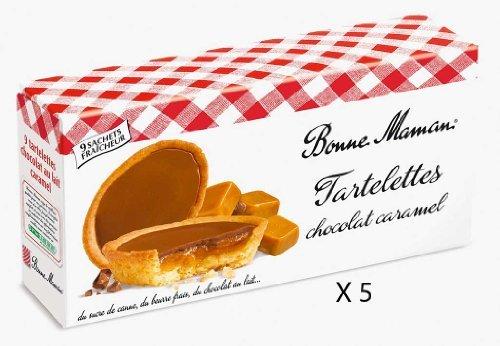 French Bonne Maman Caramel Tartelettes Bonne Maman-Tartelette Chocolat Au Lait Caramel Bonne Maman-5 Bag - Caramel Tart Chocolate