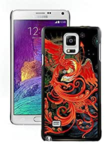 Beautiful Designed Cover Case For Samsung Galaxy Note 4 N910A N910T N910P N910V N910R4 With firebird tattoo Black Phone Case