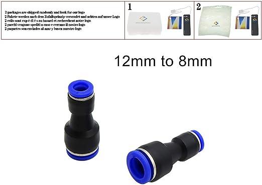 5 Pcs Straight Reduction Slip Lock Quick PVC Connector Garden Water Accessories