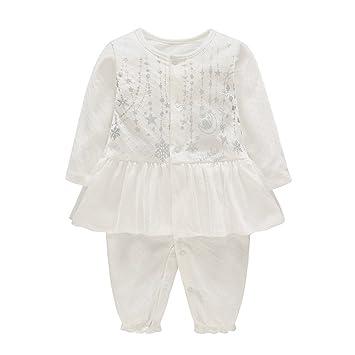 086b7f4300e Amazon.com  ALLAIBB Newborn Baby Girls Romper Silvery Patterns ...