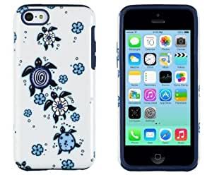DandyCase 2in1 Hybrid High Impact Hard Turtles Pattern + Blue Silicone Case Cover For Apple iphone 4s + DandyCase Screen Cleaner