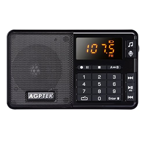 AGPTEK FM Pocket Radio, Portable Radio with Line-in Voice Radio