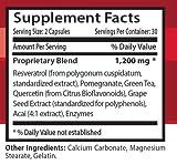 Resveratrol 1200mg Anti-Aging Antioxidant Anti-Inflammatory 60 Capsules 2 Bott Discount
