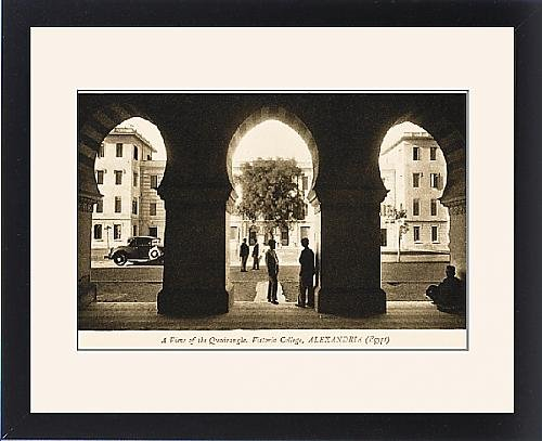 Framed Print of Victoria College, Alexandria - Quadrangle by Prints Prints Prints