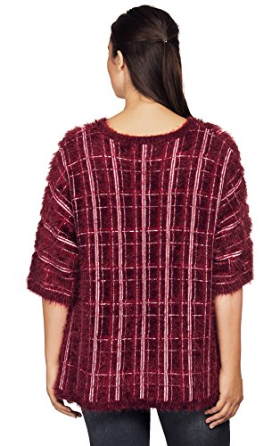 Pull Rouge Vin 3 Pull TopsandDresses Manches Femme 4 HPdaYqqw